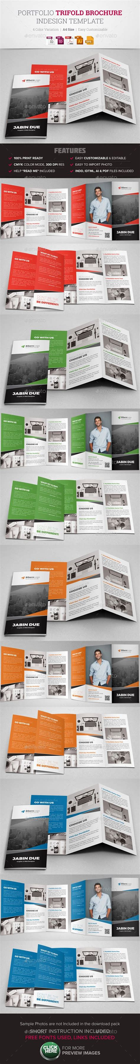 trifold brochure indesign template portfolio trifold brochure indesign template design