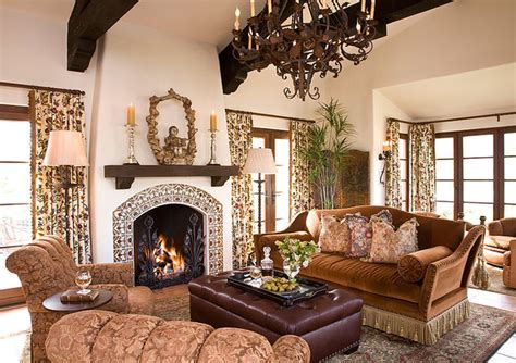 Spanish Colonial Mediterranean Living Room Other