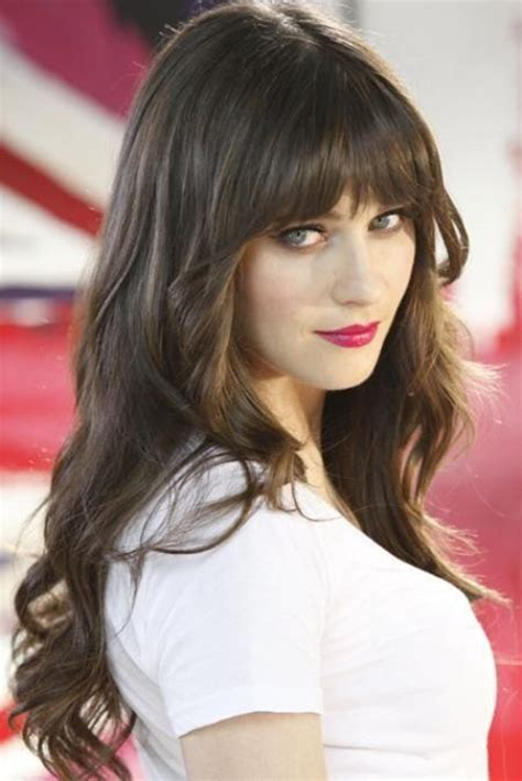 hair bangs zooey deschanel hair with bangs hairstyle