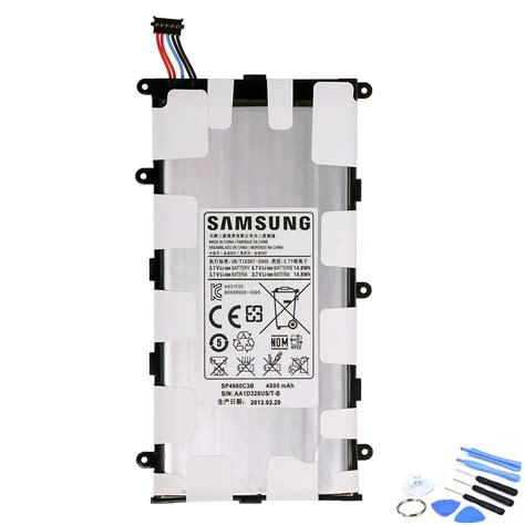 Baterai Tablet Samsung Gt P3100 3 7v 4000mah 14 8wh genuine tablet battery for samsung galaxy tab p3105 tools sp4960c3b 21