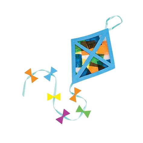 kite craft for tissue paper kite craft kit orientaltrading