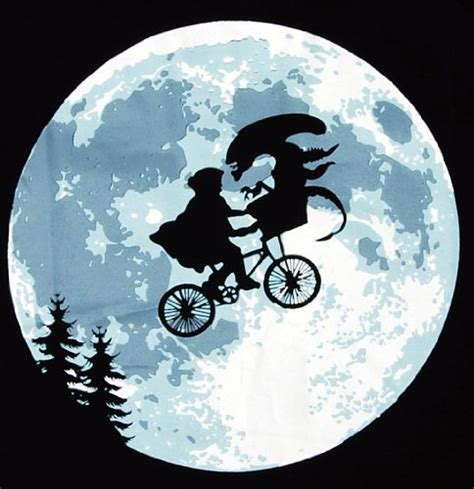 T Shirt Alie N On The Moon e t flying bicycle moon s t shirt