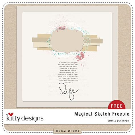 digiscrap card template freebie quality digiscrap freebies magical sketch template