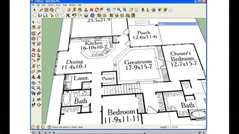 how to make a floor plan in google sketchup quick import floorplan into sketchup youtube