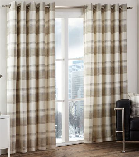 cream check curtains textilewise curtains in edinburgh bedding roller blinds
