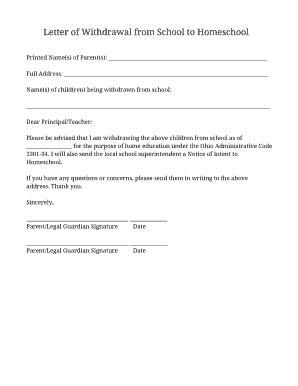 editable letter  intent  homeschool hillsborough
