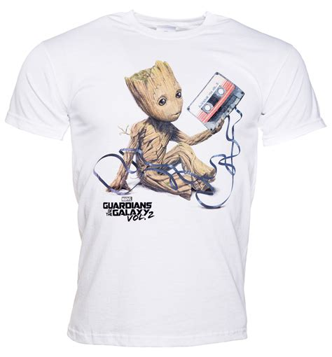 baby shirts s white baby groot and cassette guardians of the