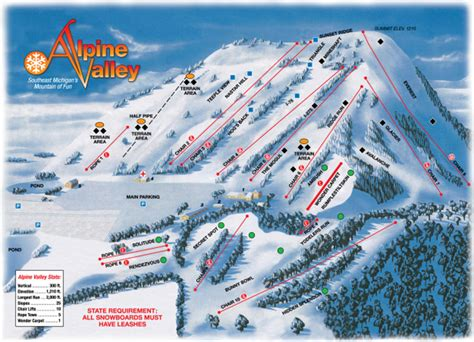 alpine mountain skimap org alpine valley trail map skicentral