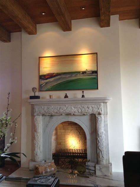 fireplace lighting with light inside