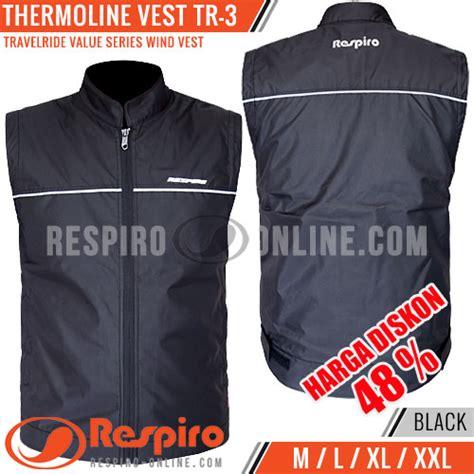 Rompi Parasut Anti Air Hitam Pria Hoodie Vest Bikers Motor Waterproof rompi respiro thermoline vest tr 3