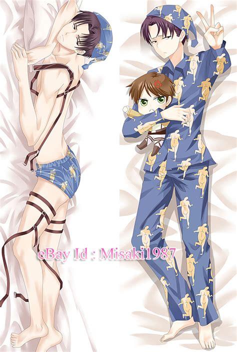 Attack On Titan Pillow by Attack On Titan Shingeki No Kyojin Dakimakura Levi Eren