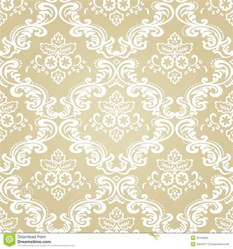 classic pattern background vector damask vintage floral seamless pattern background stock