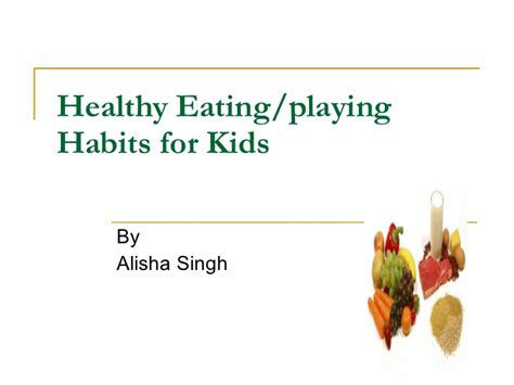 Habits Ppt Healthy Habits For