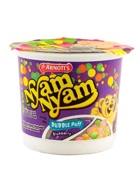 arnotts biscuit nyam nyam bubble puff blueberry cup