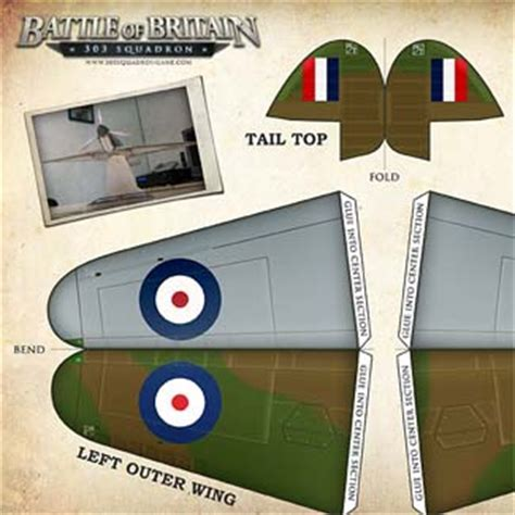 How To Make A Paper Spitfire - spitfire paper model