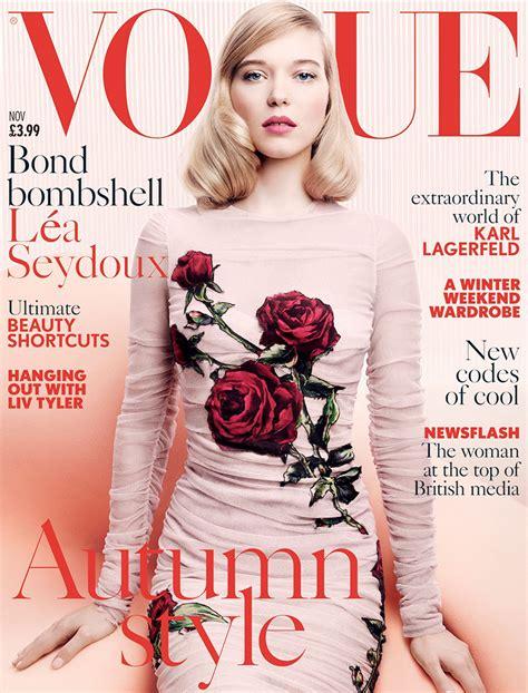 lea seydoux vogue cover lea seydoux vogue uk november 2015 cover