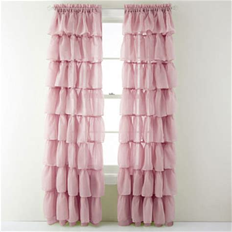 penneys curtains sheers gypsy ruffled rod pocket sheer panel jcpenney