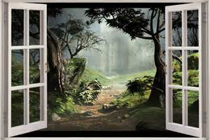 huge 3d window view fantasy forest wall sticker film decal 15 dazzling wall mural designs that will beautify your home