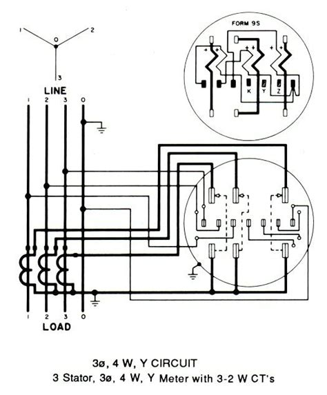 ge kilowatt hour meter wiring diagram how to read ge kv2c