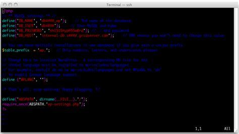 vim set color scheme enabling vi syntax colors media temple