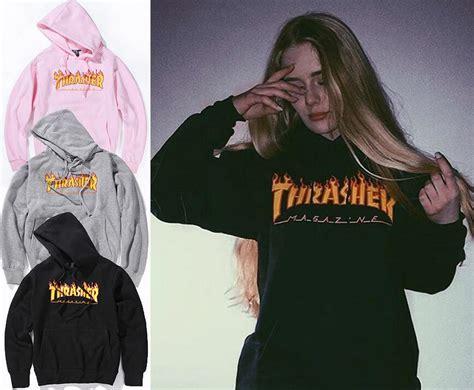 Sweater Hoodie Thrasher Jaspirow Shopping 1 thrasher hoodie sweatshirts fleece jacket tracksuit letter pullover skateboards