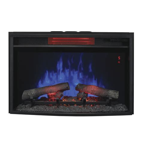 Lowes Electric Fireplace Inserts by Shop Classicflame 27 In Black Electric Fireplace Insert At