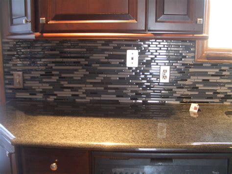 glass tile backsplash no grout images