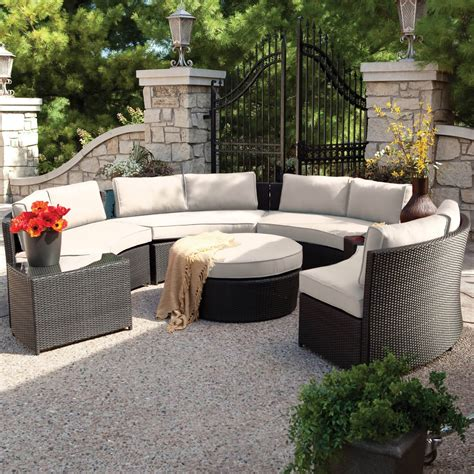 outdoor furniture circular couch 25 awesome modern brown all weather outdoor patio sectionals