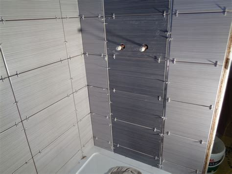 tiled feature walls bathroom bathroom converted to a shower room with bathroom storage