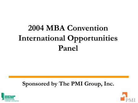 Mba Annual Convention by Ppt 2004 Mba Convention International Opportunities