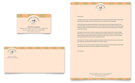 catering company business card letterhead template design