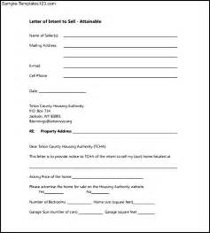 Offer To Sell Template by Letter Of Intent To Sell Property Editable Sle Sle