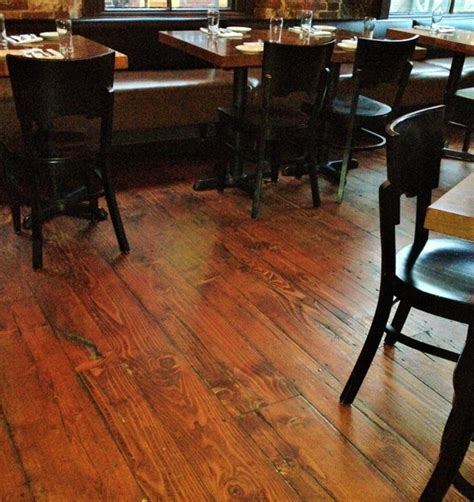 antique douglas fir at vignola s restaurant portland maine rustic hardwood flooring