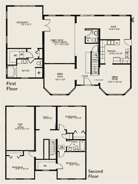 Two Story House Plans Floor Plan Harpers House