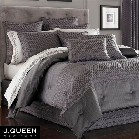 grey bedding bohemia comforter bedding by j queen new york