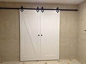 Bathroom Barn Door Kit Hd Lv Powder Coated Steel Modern Barn Wood Sliding Door Hardware Track Kit For