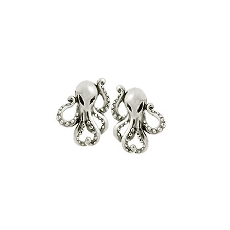 Boma Sterling Silver Fern Earrings boma sterling silver octopus stud earrings