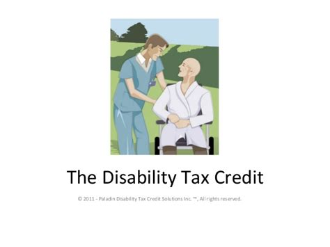 Tax Credit Form For Disability The Disability Tax Credit Presentation