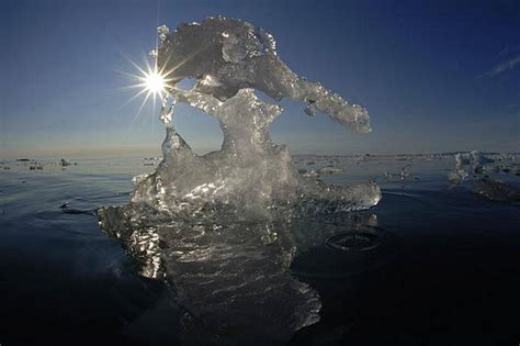 frozen wave sea water seeping   ground