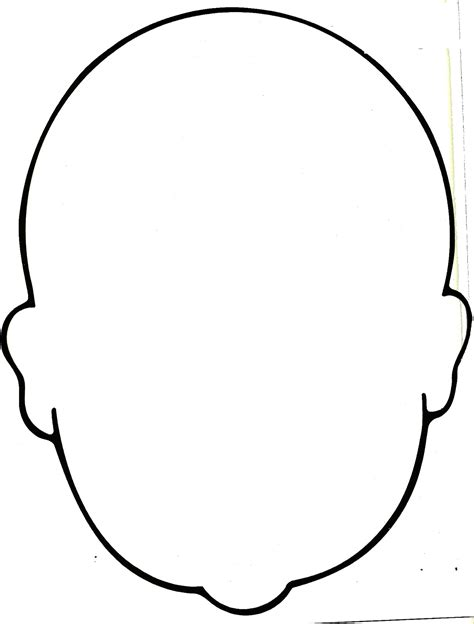 blank head coloring page clipart best