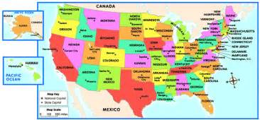 map of the united states and capitals quiz