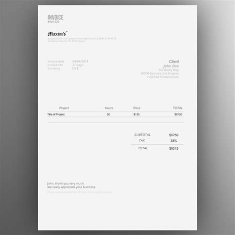 invoice template ai top 10 best free professional invoice template designs in