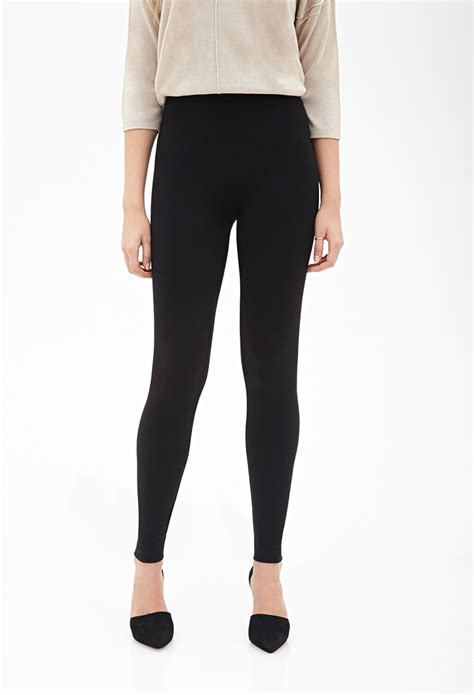 Legging Cottonrich Tight 4in1 lyst forever 21 contemporary thick knit in black