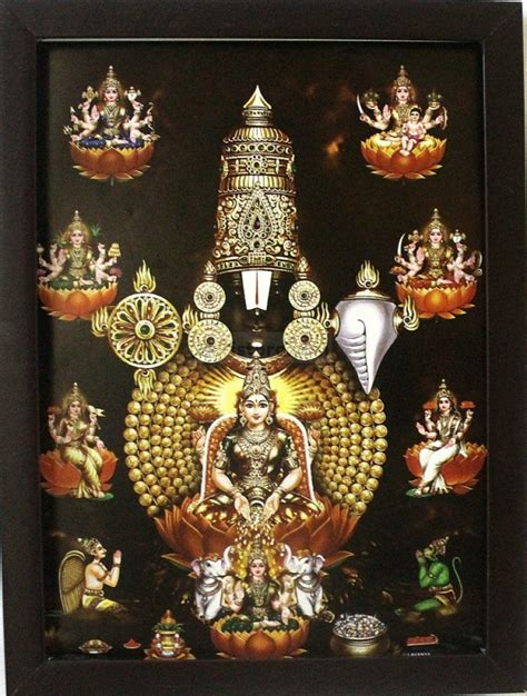 Lord Venkateswara With Ashtalakshmi Garudar And Hanuman