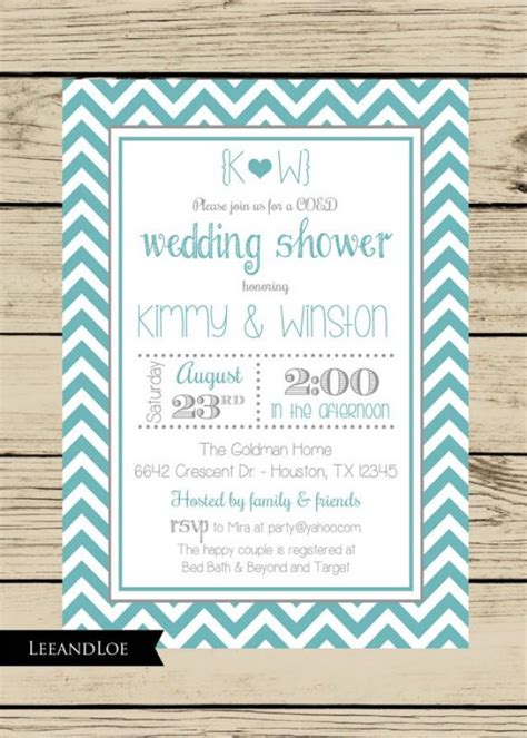 for coed wedding shower chevron wedding shower invitation couples coed bridal