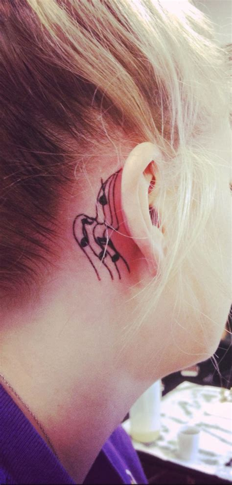 music note tattoo designs behind ear my note my ear tattoos