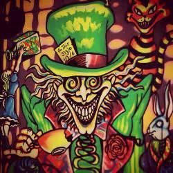 alice wonderland trippy poster neon rabbithole br flickr