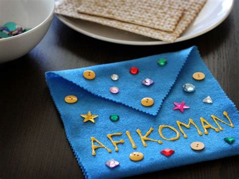 passover crafts afikoman bag for passover
