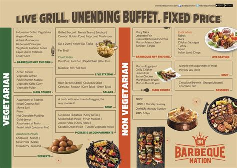 Menu Of Barbeque Nation Barsha 2 Barsha Dubai Eazydiner Barbeque Nation Buffet Price