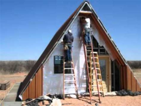 how to build a house frame a frame cabin house youtube